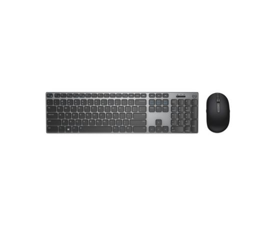 Dell KM717 Standard, Wireless, Keyboard layout EN, Grey, English, Numeric keypad, Bluetooth, Mouse included, фото 1