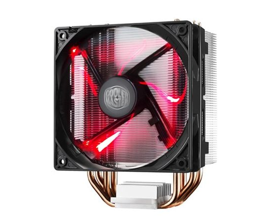 Cooler Master cooler HYPER 212 EVO Cooler Master Hyper 212 RED LED Universal cooler, 4 x Ø6mm heat-pipes, Intel 115X/1366/2011/2066 and AMD AM x/FM x, 120mm PWM fan Universal, Cooler, image 1