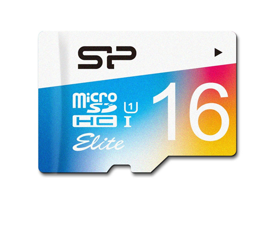 Silicon Power Elite UHS-1 Colorful 16 GB, MicroSDHC, Flash memory class 10, SD adapter, фото 3