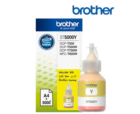 Brother BT5000Y Ink Cartridge, Yellow, image 1