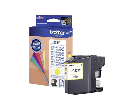 Brother LC-223Y Ink Cartridge, Yellow, image 1