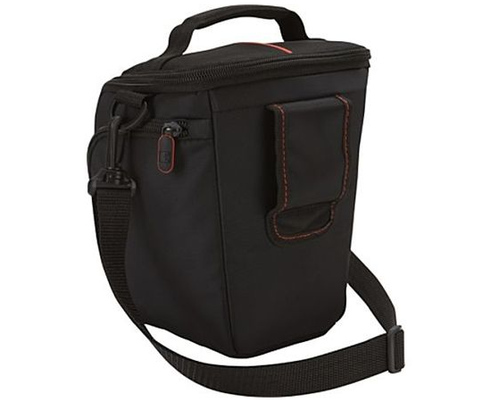 Case Logic DCB-306 Black, * Designed to fit an SLR camera with standard zoom lens attached * Internal zippered pocket stores memory cards, filter or lens cloth * Side zippered pockets store an extra battery, cables, lens cap, or small accessories * Lid un, фото 3
