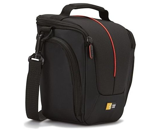 Case Logic DCB-306 Black, * Designed to fit an SLR camera with standard zoom lens attached * Internal zippered pocket stores memory cards, filter or lens cloth * Side zippered pockets store an extra battery, cables, lens cap, or small accessories * Lid un, фото 5