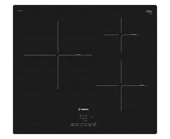 Bosch Hob  PUJ611BB1E Induction, Number of burners/cooking zones 3, Black, Display, Timer, фото 1