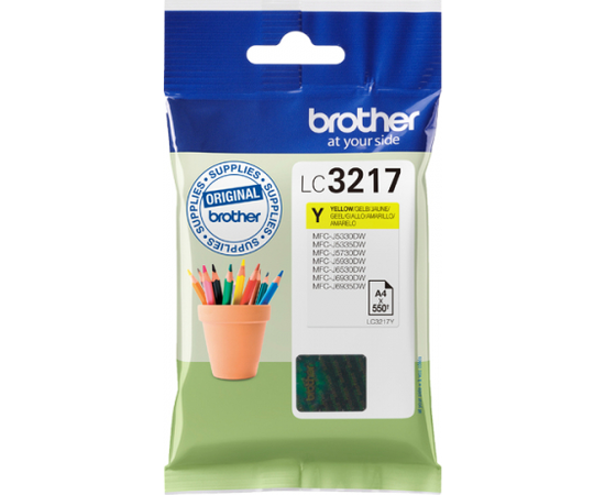 Brother LC3217Y Ink Cartridge, Yellow, фото 3
